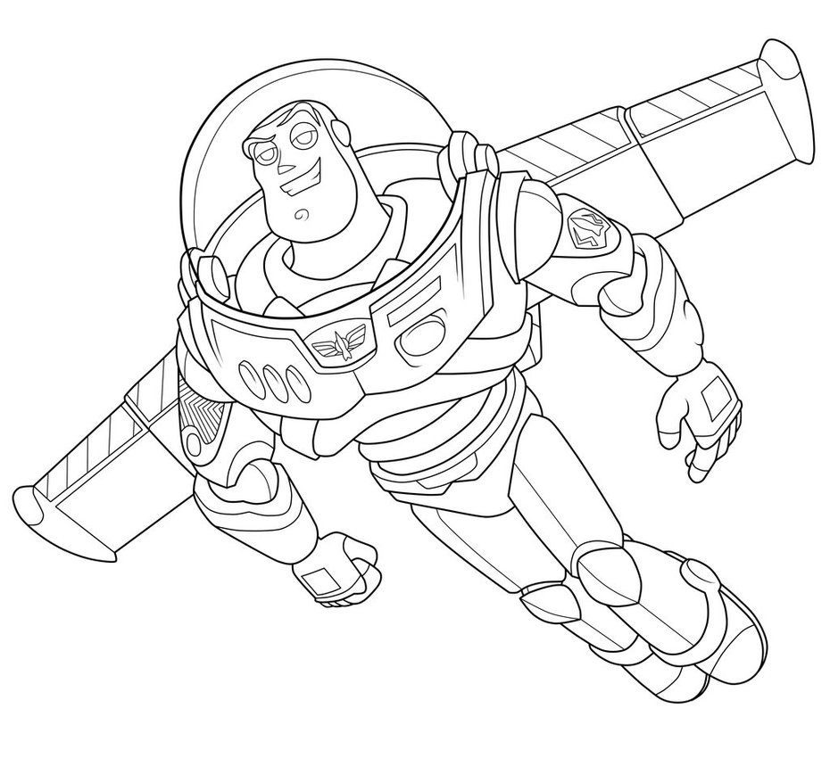 Line Drawing Year : Free coloring pages of buzz light year