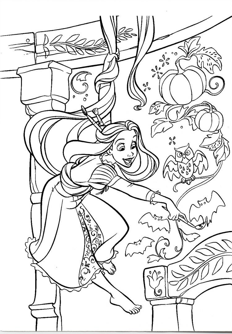 Coloring Pages Halloween Princess : La princesa rapunzel imágenes y fotos