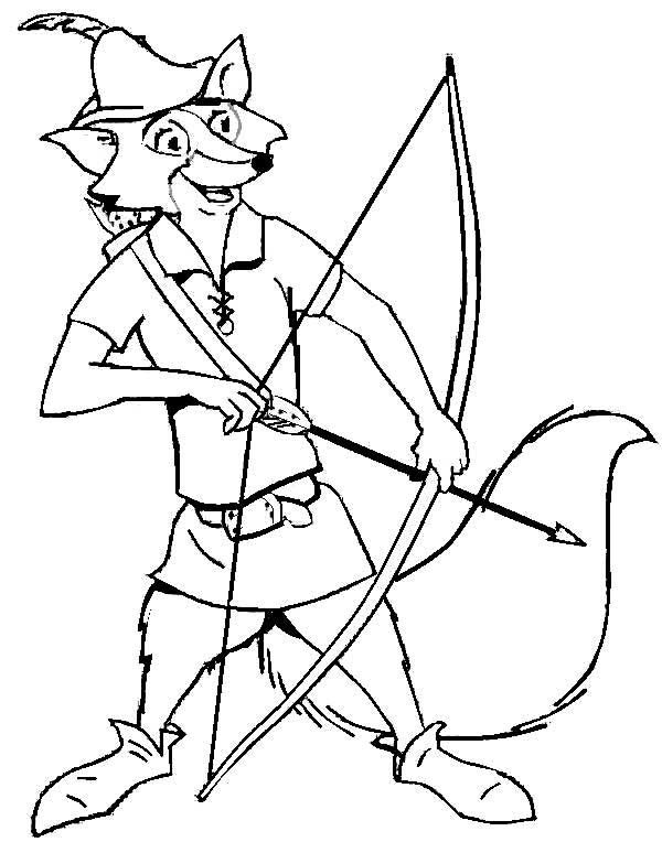 robin hood fox coloring pages - photo#17