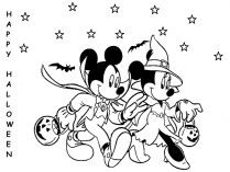 Mickey y Minnie en Halloween