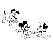 Pluto, Mickey y Minnie